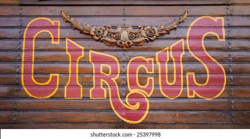Circus Sign made of wood