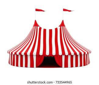 Circus Tent Isolated. 3D rendering