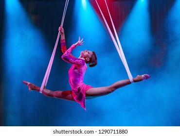 Circus variety acrobats
