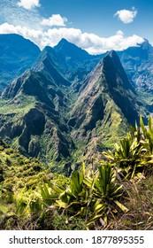 The Cirque de Mafate near the  volcano Piton des Neiges in the Island La Réunion in the Indian Ocean - Shutterstock ID 1877895355