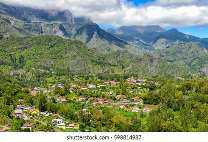 Cirque de Salazie and Hell-bourg seen from above, la Reunion Island