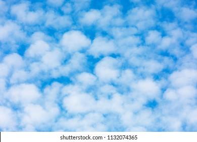 Cirrocumulus cloud,herringbone, mackerel sky