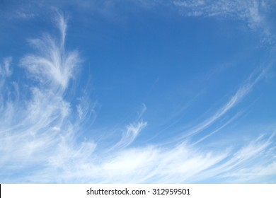 cirrus clouds in the blue sky background