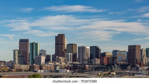 Cirrus Clouds Over the Denver Skyline