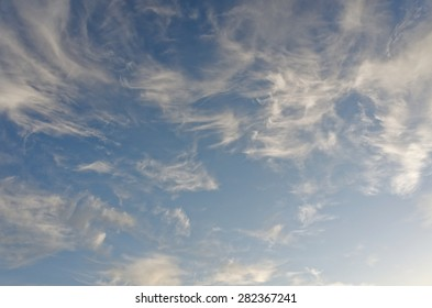 Cirrus clouds in the sky