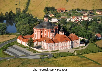 Cistercian church Marianska Tynice in west Bohemia