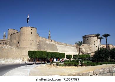 The Citadel of Cairo. Al-Azhar Park and Bab Zuweila Gate. Egypt
