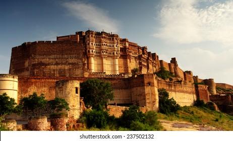 citadel of Mehrangarh in Jodphur, Rajasthan, India