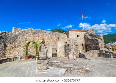 Citadel in old town in Budva in a beautiful summer day, Montenegro