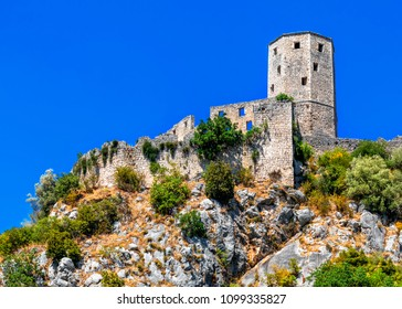Citadel Pocitelj, castle in Bosnia and Herzegovina In the valley of the river Neretva. This fortress was built by King Tvrtko I of Bosnia in 1383.