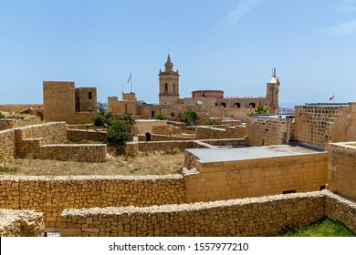 Citadel Victoria is a fortified city of St. John's bastion inside the citadel of Malta. Gozo Island. UNESCO World Heritage Site.
