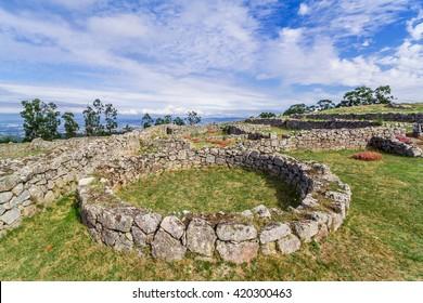 Citania de Sanfins. A Castro Village (fortified Celtic-Iberian pre-historic settlement) in Pacos de Ferreira, Portugal.