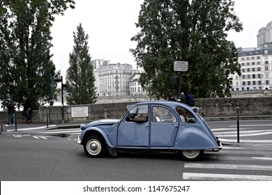 Citroen 2cv in the street of Paris in France on June 5, 2016
