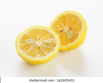 Citron placed on a white background