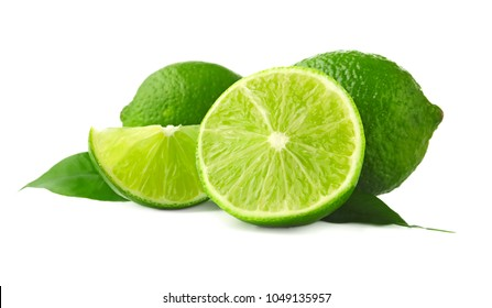Citrus fruit on white background