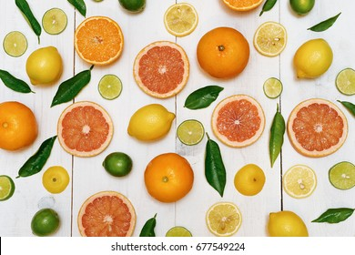 citrus fruits background pattern
