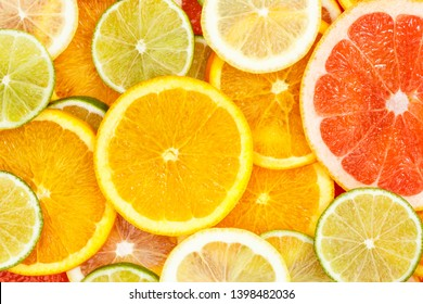 Citrus fruits collection food background oranges lemons limes grapefruit fresh fruit backgrounds
