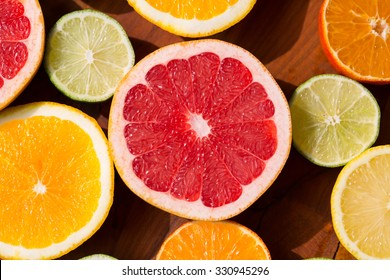 Citrus fruits cutted