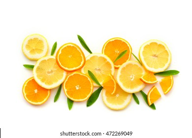 Citrus fruits. Citrus fruits with green leaves. Citrus fruits is