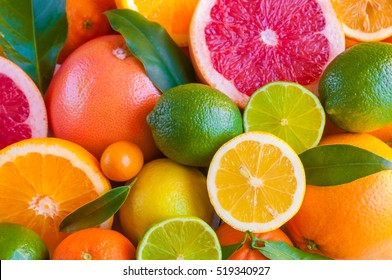 Citrus fruits (orange, lemon, grapefruit, mandarin, lime)