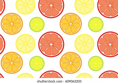Citrus fruits seamless pattern