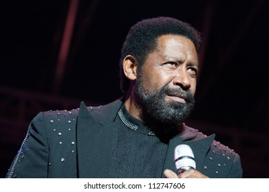 CITRUS HEIGHTS, CA - SEPT 8: William King  with The Commodores performs at Sunrise Marketplace in Citrus Heights, California on September 8th, 2012