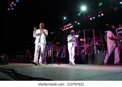 CITRUS HEIGHTS, CA - SEPT 8: Kool and the Gang performs at Sunrise Marketplace in Citrus Heights, California on September 8th, 2012