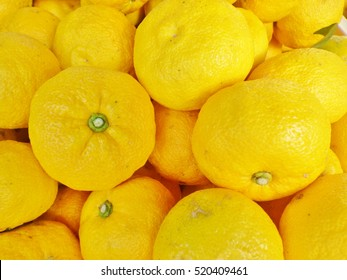 Citrus junos fruits