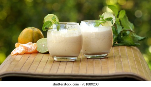 Citrus slush is a blend of orange and lemon along with a milk, vanilla ice cream and ice to make this refreshing summer drink.