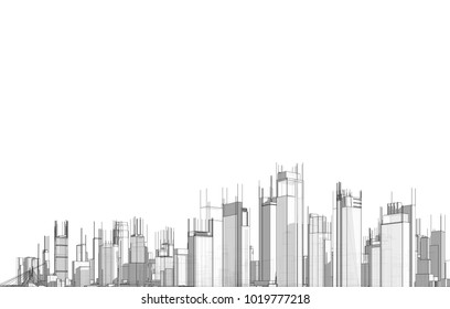 city 3d illustration