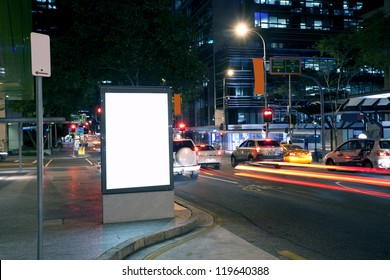 City advertising light boxes