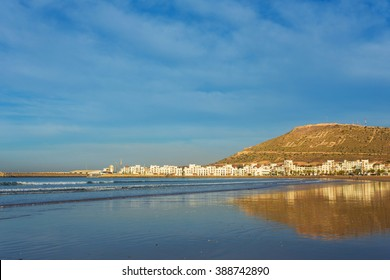 The City of Agadir, Morocco, on the coast of the Atlantic ocean