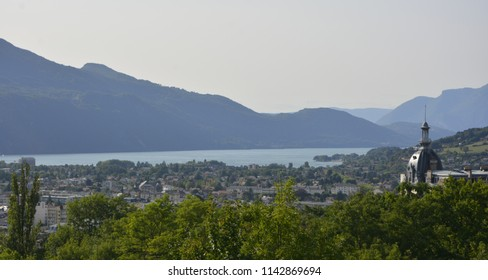 City of Aix les Bain on Lake Bourget in Savoy, France