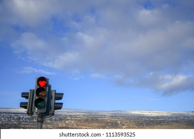 The city of Akureyri, Iceland has heart shaped stoplights to uplift the residents' spirits post recession.