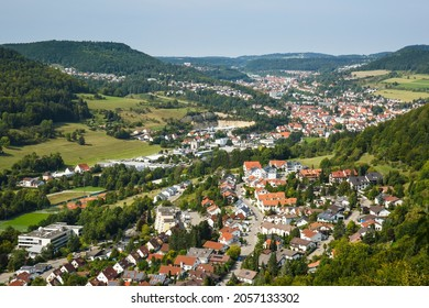 City of Albstadt on the Swabian Alb, southern Germany