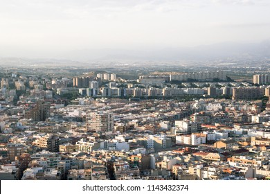 City of Alicante, Spain. View of houses and buildings from the top.