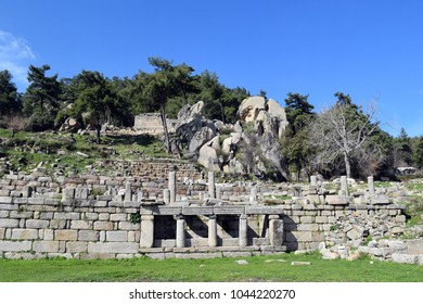 The city is ancient.Ruins of the ancient Roman city.Labranda.Milas.Turkey