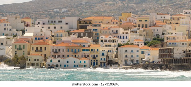 City of Andros at  Andros island in Greece.