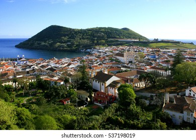 City of Angra do Heroísmo and harbor of Terceira island, Azores