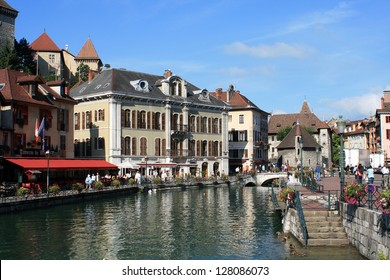 City of Annecy in the Alps
