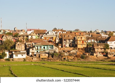 City of Antananarivo at sunny day. Madagascar