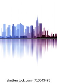 city, architecture abstract,  background, 3d illustration