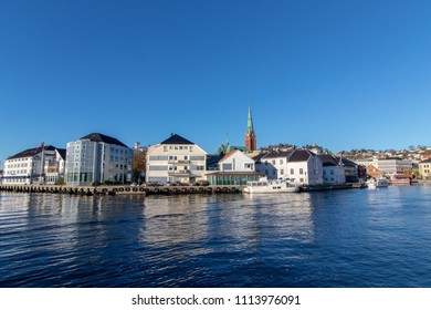 The city of Arendal in Southern Norway, a clear and sunny day.