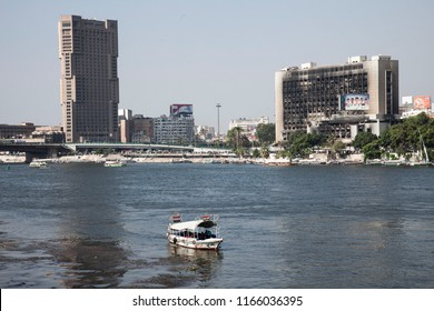 The city around the Nile River and the Nile River, Cairo, Egypt
