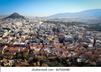 City of Athens panorama from the basement of Acropolis, Greece