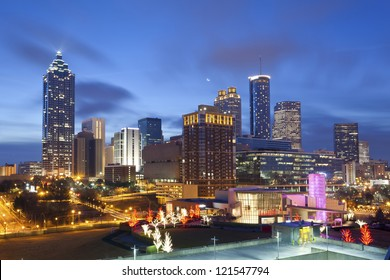 City of Atlanta. Image of the Atlanta skyline during sunrise.