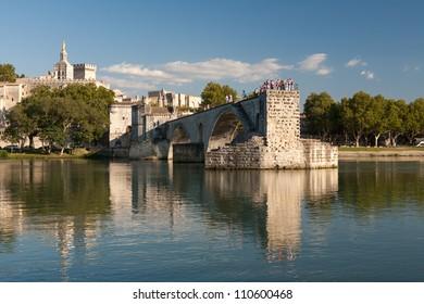 City of Avignon, its bridge and its Palais des Papes