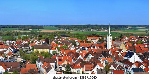 The city of Bad Saulgau from above
