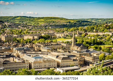 City of Bath, Somerset, England, view from Alexandra Park.