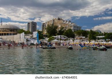 The city beach of Arcadia. The city of Odessa. Ukraine. June 2017